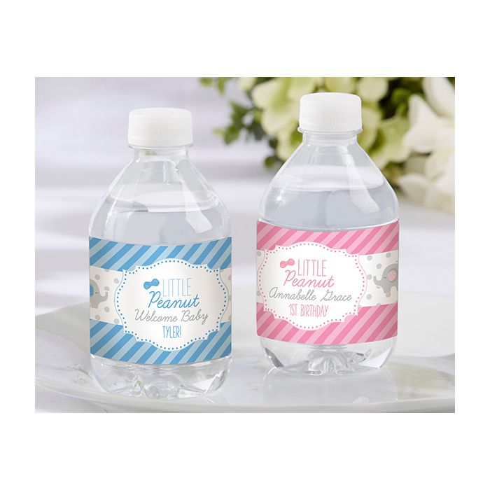 Personalized Water Bottle Labels Little Peanut