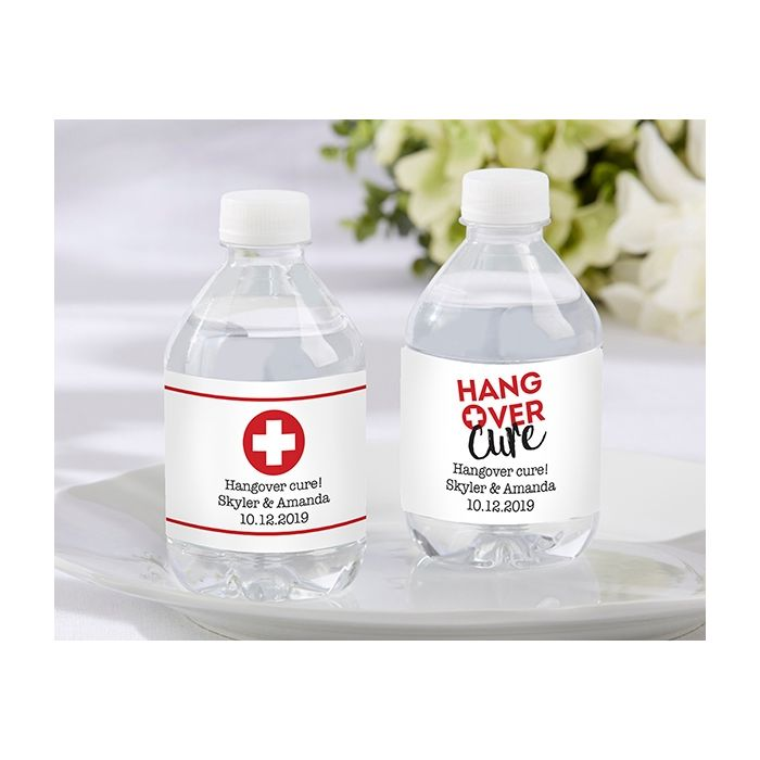 Personalized Water Bottle Labels Hangover