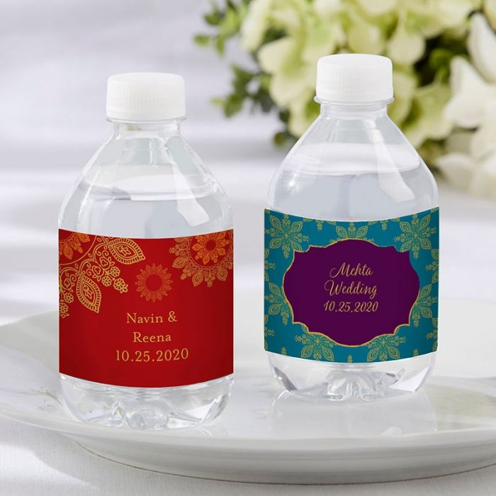 Personalized Water Bottle Labels Indian Jewel
