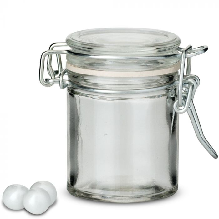 Small Gl Jar With Wire Snap Lid