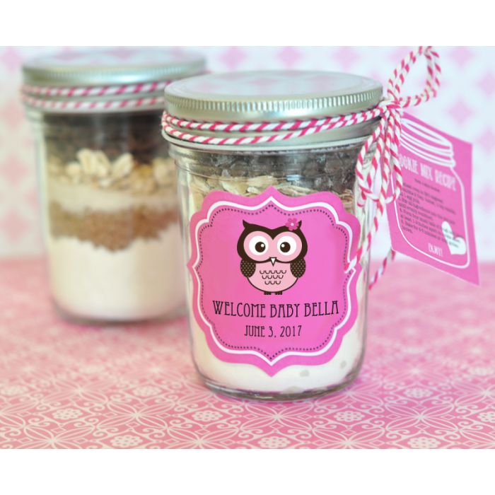 Set of 12 Personalized Baby Elephant Baby Shower Favors Mini Mason Jars Elephant Baby Shower Party Gift Ideas Party Favors Mason Jars