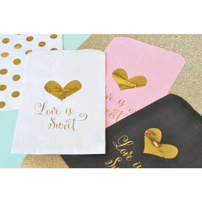 Love Is Sweet Gold Foil Candy Buffet