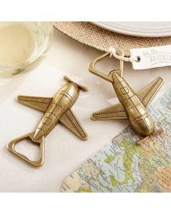 """Let the Adventure Begin"" Airplane Bottle Opener"