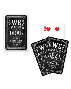 Custom Playing Card Favors We Sealed The Deal Chalkboard