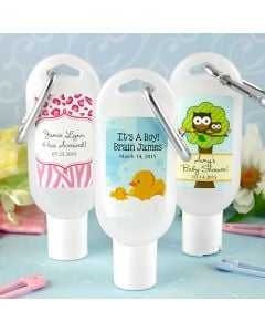 Baby Hand Sanitizer Favors with Carabiner