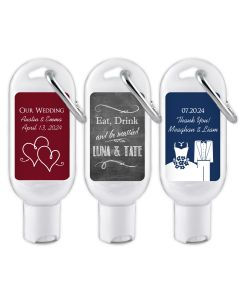 Hand Sanitizer with Carabiner - Silhouette Collection