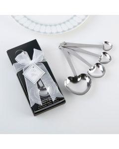 'Love Beyond Measure'  Heart Measuring Spoons in Gift Box