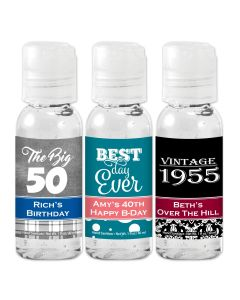 Adult Birthday Hand Sanitizer Favors
