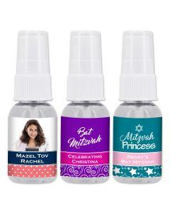 Bar Mitzvah and Bat Mitzvah Hand Sanitizer Favors - 1oz Spray