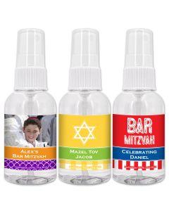 Bar Mitzvah and Bat Mitzvah Hand Sanitizer Favors - 2oz Spray