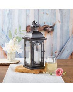 Antique Black Ornate Lantern - Medium