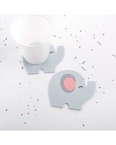 Elephant Coaster - Little Peanut (Pink)