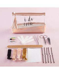 I Do Crew Clear & Rose Gold Bag Survival Kit