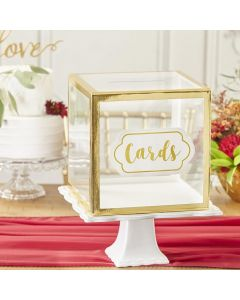 Gold Frame Collapsible Acrylic Card Box