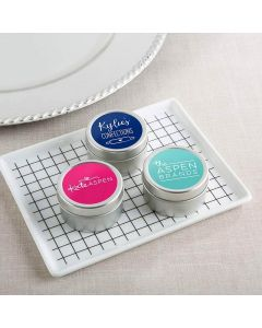 Personalized Travel Candle Tin - Custom Design