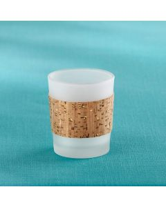 Tropical Chic Gold Glitz Cork Wrapped Tea Light Holder (Set of 4)