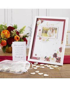 Wedding Guest Book Alternative - Burgundy Blush