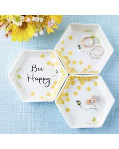 Bee Happy Trinket Dish (Set of 3)