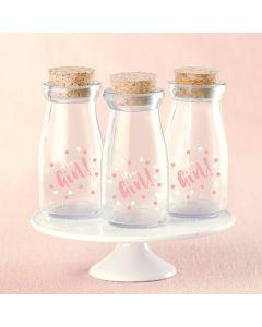 It's a Girl Polka Dot Vintage Milk Bottle Favor Jar (Set of 12)