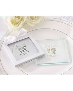 Personalized Glass Coaster – The Hunt Is Over (Set of 12)
