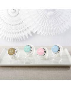Personalized Mini Glass Favor Jars - Custom Design (Set of 12)