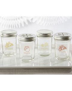 Personalized Printed Mason Jar - Fall (Set of 12)