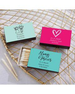 Personalized Black Matchboxes - Wedding (Set of 50)
