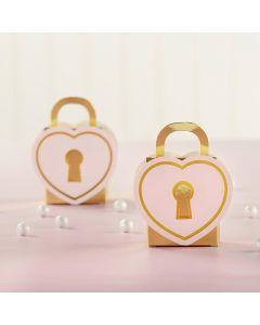 Love Lock Favor Box (Set of 12)