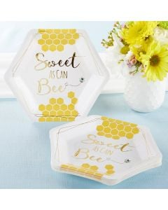Sweet as Can Bee 7 in. Premium Paper Plates (Set of 16)