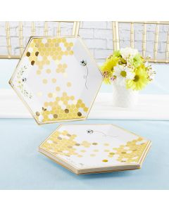 Sweet as Can Bee 9 in. Premium Paper Plates (Set of 16)