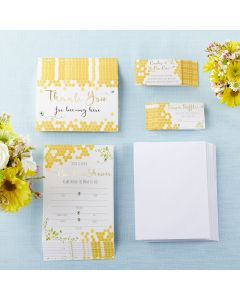 Sweet as Can Bee Invitation & Thank You Card Bundle (Set of 25)