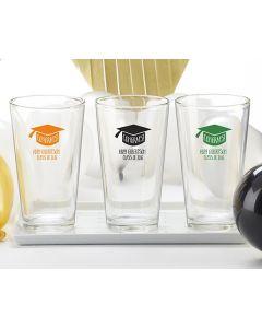 Personalized 16 oz. Pint Glass - Congrats Graduation Cap