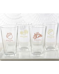 Personalized 16 ounce Pint Glass - Fall