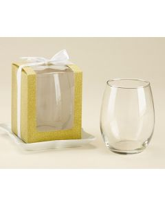 Gold 9 oz. Glassware Gift Box (Set of 12)
