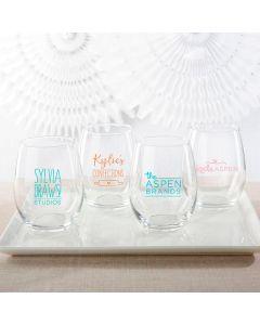 Personalized 15 oz. Stemless Wine Glass - Custom Design