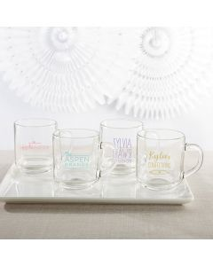 Personalized 10 oz. Glass Coffee Mug - Custom Design
