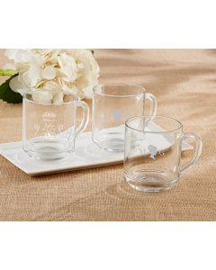 Personalized Glass Coffee Mug - English Garden