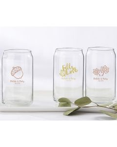 Personalized 16 ounce Can Glass - Fall