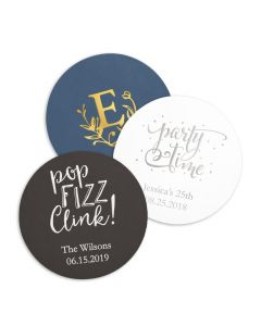 Personalized Paper Coasters - Round (100)