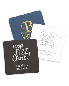 Personalized Paper Coasters - Square (100)