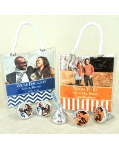 Photo Hershey's Kisses Mini Gift Tote Favors
