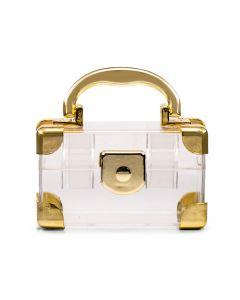 Mini Travel Suitcase Favor Box - Gold (2)