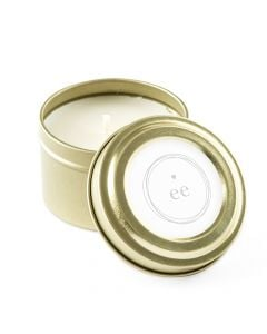 Personalized Gold Tin Candle Wedding Favor - Little Heart 3oz