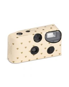 Disposable Camera With Flash - Gold Hearts