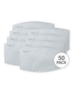 Adult PM 2.5 Protective Mask Filters - Pack Of 50