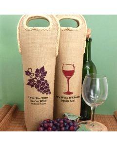 Personalized Wine Tote