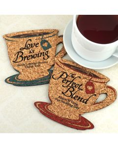 Personalized Tea Cup Cork Coaster