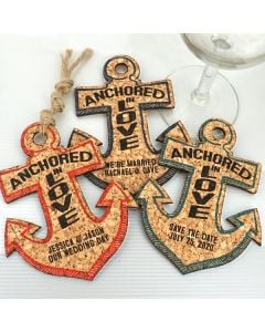 Personalized Anchor Cork Coaster