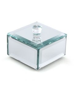 Miniature Beveled Mirror Box With Lid ( Set of 4 )