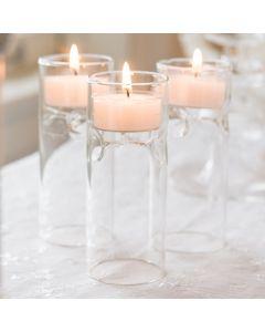 Blown Glass Miniature Tealight Luminaries (set of 4)
